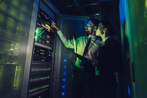Data Centre Man & Woman